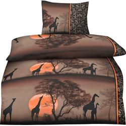 Bettwäsche Afrika, One Home, im orientalischen Safari Look 2 St. x 155 cm x 220 cm