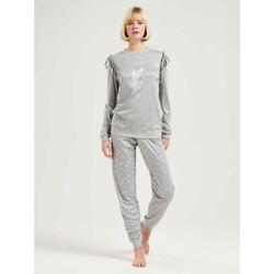CALIDA Pyjama Pyjama mit Bündchen, Compostable (2 tlg) M = 44/46