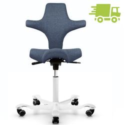 HAG CAPISCO 8106 Bürostuhl mit Sattelsitz Stoff Remix 733 blau - Gestell weiß