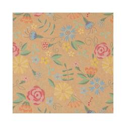 STAR Geschenkpapier, Geschenkpapier Blumen Muster vintage 70cm x 2m, Rolle