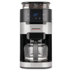 Gastroback Kaffeemaschine mit Mahlwerk Grind & Brew Pro - Kaffeemaschine - schwarz/edelstahl
