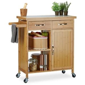 relaxdays Küchenwagen Küchenwagen mit Marmorplatte
