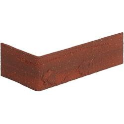 ELASTOLITH Verblender Colorado Eckverblender, BxL: 11,5x7,1 cm, (Set, 24-tlg) rot, für Außen- und Innenbereich, 2 Lfm