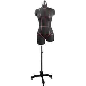 LSK- Schneiderpuppe Damenbüste Schneider Mannequin Dummy Clothing Store Mannequins Modell mit Metallfuß Auslage Regal (Color : Black, Size : 86)