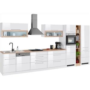 HELD MÖBEL Küchenzeile Wien, ohne E-Geräte, Breite 440 cm weiß