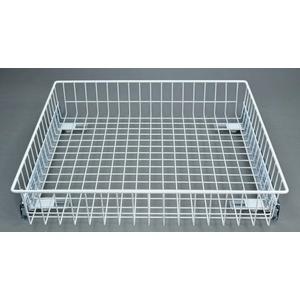 Ausziehkorb 35kg – weiss – 600/100 Schrankauszug Teleskopschublade Vollauszug