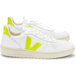 Veja - V10 Leather Extra White Yellow Fluo - Sneakers - Größe: 40