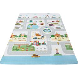 Kinderteppich Spielmatte, Andiamo, rechteckig, Höhe 8 mm, Straßen-Spielteppich, abwischbar bunt