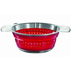 ROESLE Seiher, Silikon, (1-St), platzsparend zusammenfaltbar rot Ø 24 cm x 10,5 cm