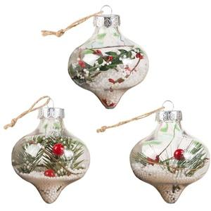 Tomaibaby Weihnachten Klare Ball Ornamente Ausfüllbare Weihnachtsbaumkugeln DIY Kunststoff Ornament Ball Transparent Bruchsichere Ball Kugeln Handwerk Transparente Ball Dekor für Kind