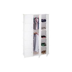 relaxdays Steckregal Regalsystem Kleiderschrank 11 Fächer