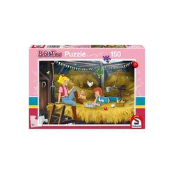 Schmidt Spiele Puzzle Puzzle 150 Teile Bibi & Tina, Auf dem Heuboden, Puzzleteile