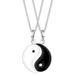 Elli Ketten-Set Elli Halskette Partnerketten Yin und Yang, 0104961112 (Set, 4-tlg)