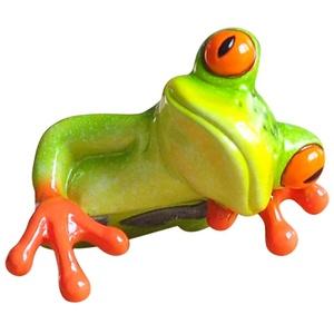 Yundxi Mini Frosch Dekofiguren 3D Frosch Figur Skulptur Tierfiguren Tischfigur Ornament Deko Figur Dekoration Zierfigur für den Schreibtisch, Computer, Dekoration (Typ2)