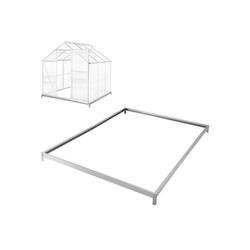 tectake Gewächshaus Fundament für Gewächshaus, 4.0 mm Wandstärke, Bodenanker 190.0 cm x 12.0 cm x 190.0 cm