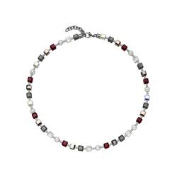 JOBO Collier, Kristallsteine mit Edelstahl kombiniert