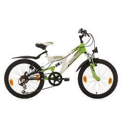 Kinderfahrrad MTB Fully 20'' Zodiac RH 31 cm Fahrräder weiß