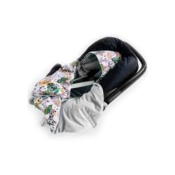 Babydecke Babydecke mit Kapuze Einschlagdecke Babyschale Wattiert, Universal, 0-6 Monaten oder 0-12 Monaten, BABEES, sehr weich und kuschelig 75 cm x 75 cm