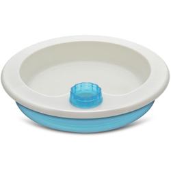 reer Warmhalteteller, mit rutschfestem Tellerboden, Warmes Wasser im Tellerboden hält die Nahrung warm, 1 Stück