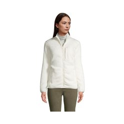 Jacke aus Teddyfleece - XS - Weiß