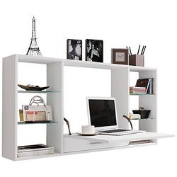 Wandschreibtisch Wandtisch Schreibtisch Wandregal Bürotisch Teala weiß