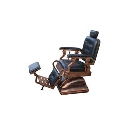 1356 Retro-Friseurstuhl SCALA schwarz