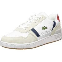 Lacoste Herren T-Clip 0120 2 SMA Sneaker, navy / rot / weiß, Größe 8, 4996263
