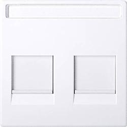 Merten Abdeckung Netzwerkdose Weiß MEG4564-0325