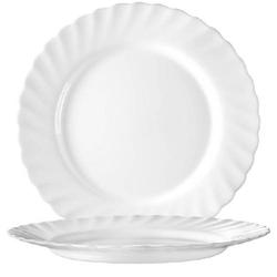Speiseteller 27,3 cm Form Trianon uni weiß - ARCOPAL