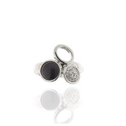 J & S JULIASS WELT Fingerring Ring elastisch Katzenauge, Kristallsteine, inkl. Schmucketui