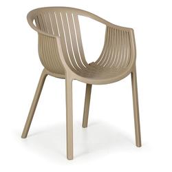 Stapelstuhl aus kunststoff lounge, beige, 4 stk.