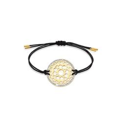 Nenalina Armband Kronen Chakra Yoga Kristalle 925 Silber goldfarben
