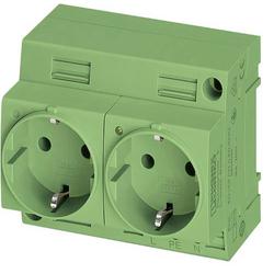Phoenix Contact Schaltschrank-Steckdose EO-CF/UT/LED/DUO/GN Grün 1St.