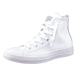 Converse Chuck Taylor All Star Hi Monocrome Leather Sneaker Monocrom weiß 36