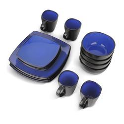 MiaMio Kombiservice 16 teilig Geschirrset/Kombiservice (Blau), Keramik