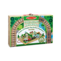Melissa & Doug Spielzeugeisenbahn-Set Holzeisenbahn zum Mitnehmen