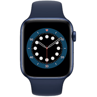Apple Watch Series 6 GPS + Cellular 44 mm Aluminiumgehäuse blau, Sportarmband dunkelmarine