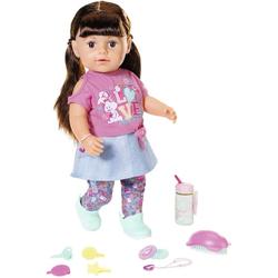 Baby Born Babypuppe Soft Touch Sister 43ch, brünett, interaktiv
