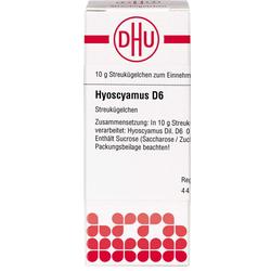 HYOSCYAMUS D 6 Globuli 10 g