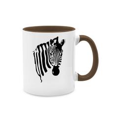 Shirtracer Tasse Zebra - Wildnis - Tasse zweifarbig - Tassen, zebra tassen
