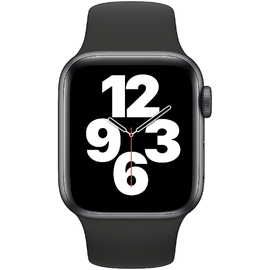 Apple Watch SE GPS 40 mm Aluminiumgehäuse space grau, Sportarmband schwarz