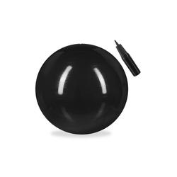 relaxdays Gymnastikball Gymnastikball 65 cm schwarz