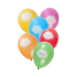 Folat Luftballon Luftballons Baby blau 30 cm, 6 Stück bunt