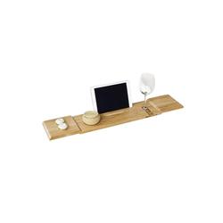 SoBuy Badewannenablage FRG104, Badewannenbrett Badewannenauflage Halterung / Halter für iPad oder Handys 80 cm x 15.5 cm