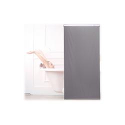 relaxdays Duschrollo Duschrollo grau Breite 80 cm 80 cm x 240 cm