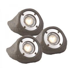 LAPIS 3577443 Set 3 x LED Unterwasserleuchten für Teich Wasserlauf - IP68