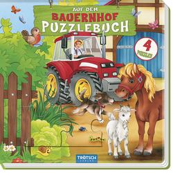 Trötsch Puzzlebuch mit 4 Puzzle Bauernhof: Buch von