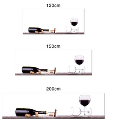Wall-Art Küchenrückwand Spritzschutz Küche Weinflasche, (1-tlg) 200 cm x 50 cm x 0,4 cm