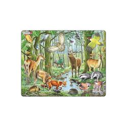 Larsen Puzzle Rahmen-Puzzle, 40 Teile, 36x28 cm, Europäischer, Puzzleteile