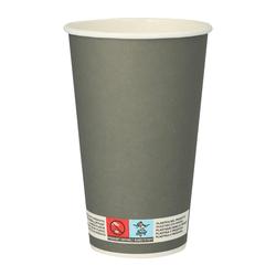 BIO Trinkbecher für Bier Bierbecher aus Pappe 0,4l - 400ml grau, 20 Stk.